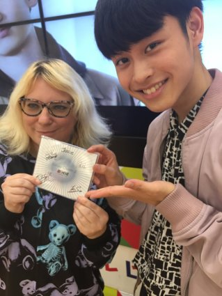 For my second shot with my favourite, I held my signed CD from the event.